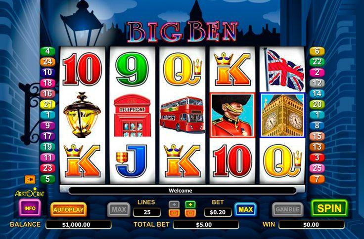 Big Ben Spielautomat von #Aristocrat möchtet schon gespielt werden! Geniesse das kostenloses Spielspass mit #Spielautomaten im Onlinecasinohex.de