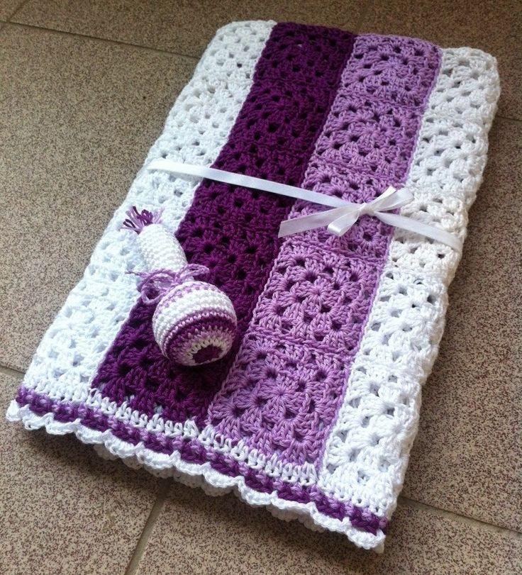 Háčkovaná deka pro miminko crochet blanket saramar blog