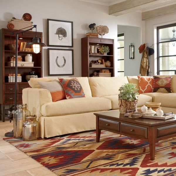 Inspired By Distinctive Native American Designs This Living Space Showcases  Traditional Patterns And Colors In.