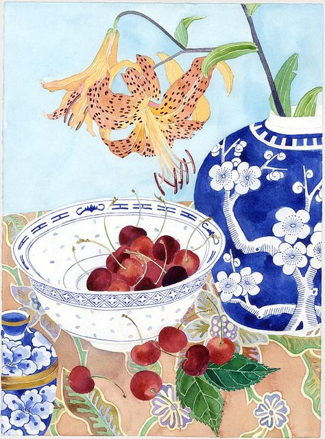 tigerlillies with cherries GABBY MALPAS