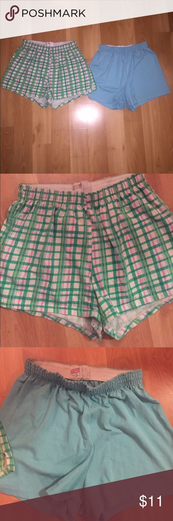 2 pair Soffe short bundle! Originally 3 for $20 + shipping via Soffee site. Vibrant shorts for a steal! Plaid is a size L blue size M. Soffe Shorts