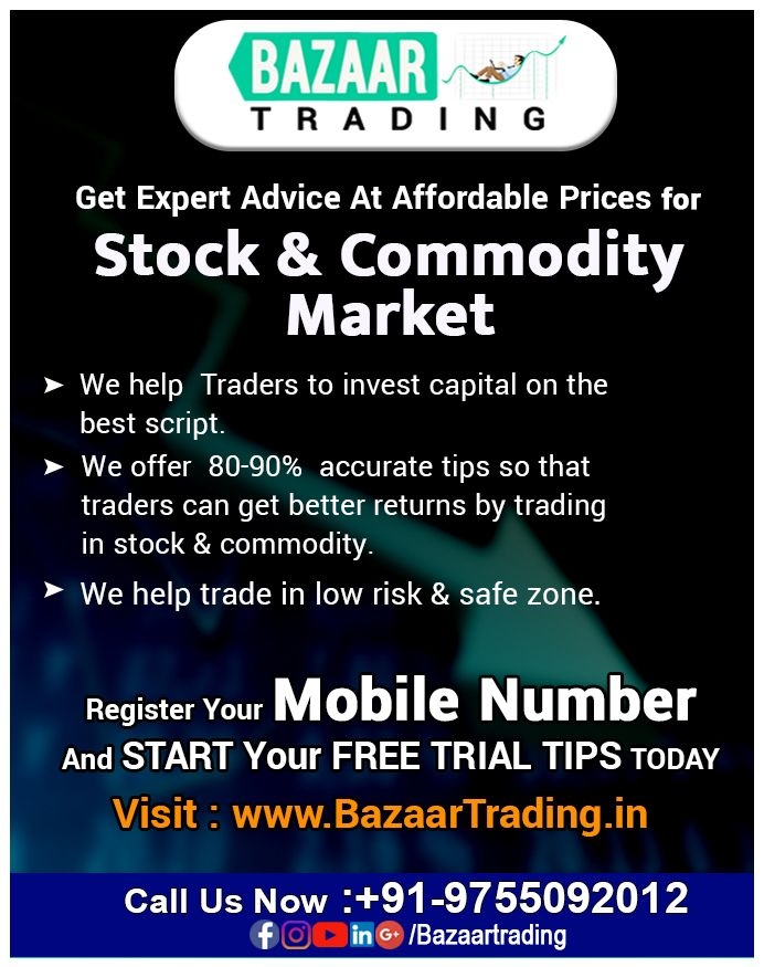Bazaartrading In India S Top Stock And Commodity Tips Provider