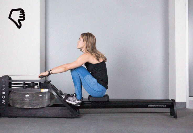 The Mistake: You make a scooping motion as you row. #rowing #cardio #exercise http://greatist.com/move/how-to-use-a-rowing-machine