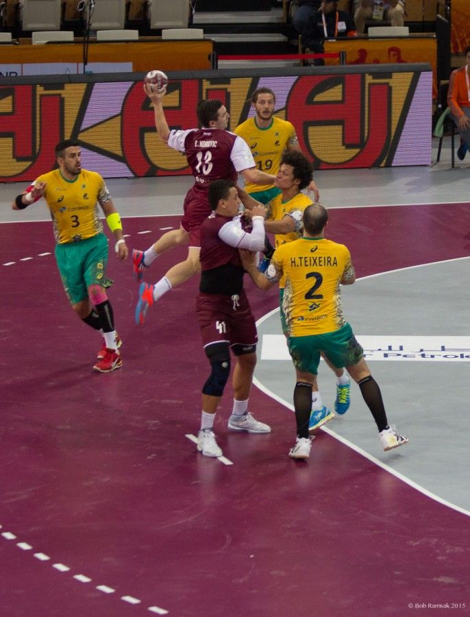 Brazil vs Qatar - Nine Images From The Opening Match Of The Men's Handball World Championship - PIRAN CAFÉ