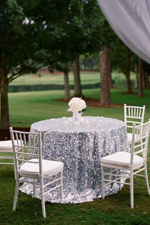 silver sequin 108 tablecloth silver sequin cake table