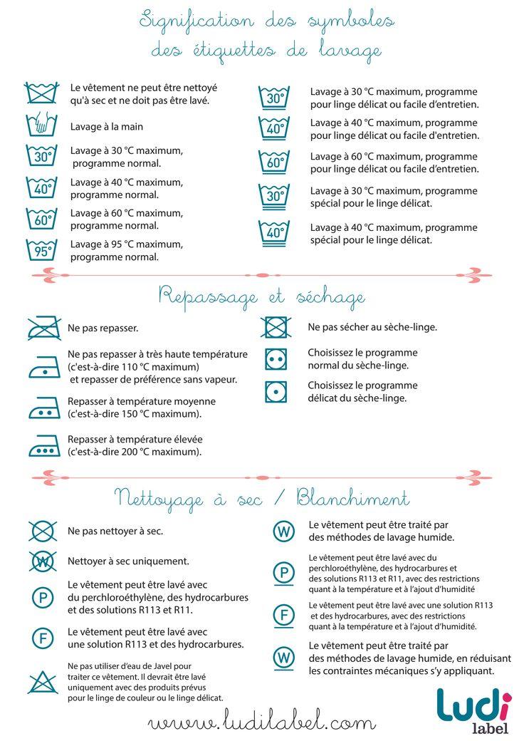 Tiquette conseil d 39 entretien du linge astuces - Instructions de lavage symboles ...
