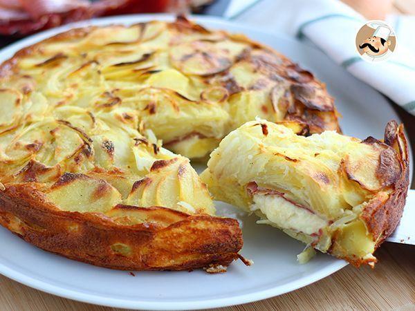 Raclette and potatoes cake - video recipe!, Recipe Petitchef