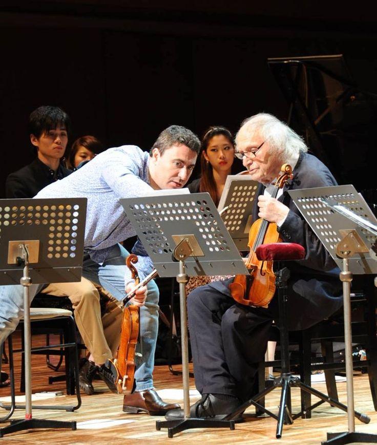 Maxim Vengerov(マキシム・ヴェンゲーロフ)とIvry Gitlis(イヴリー・ギトリス)。MAGICO主催のコンサートにて