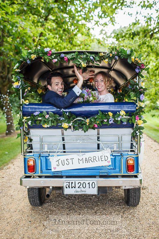 #Wedding TukTuk #SouthFarm by LinaandTom.com