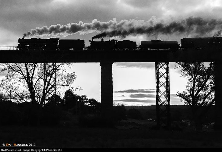 Spooky, yet majestic! R761 & D3 639 climb across the magnificent Taradale Viaduct on the Melbourne - Bendigo line returning from Castlemaine with the 'Steamrail Maldon Spectacular Tour' from the small Goldfields town of Maldon. Maldon is situated on the 'Castlemaine - Maldon' Railway and is operated under the Victorian Goldfields Railway.