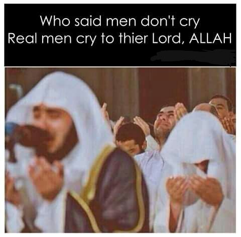 Don't cry because of the hardship of this life. Cry for the forgiveness of Allah.