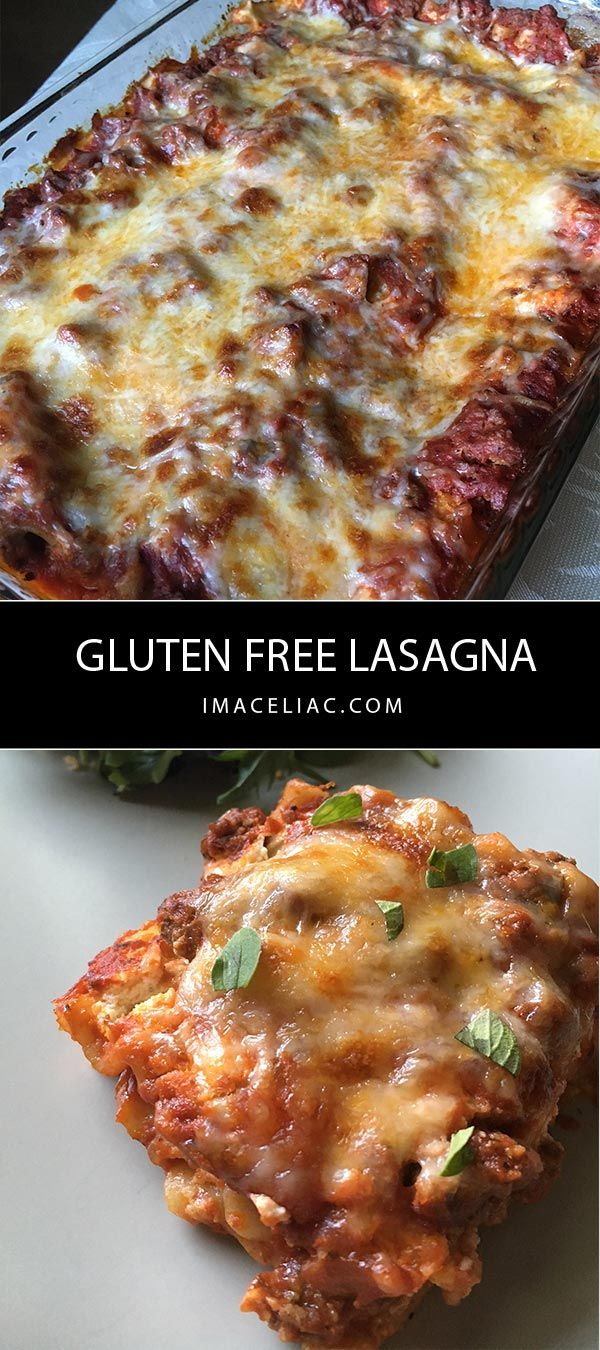 Simple recipe to make Gluten Free Lasagna