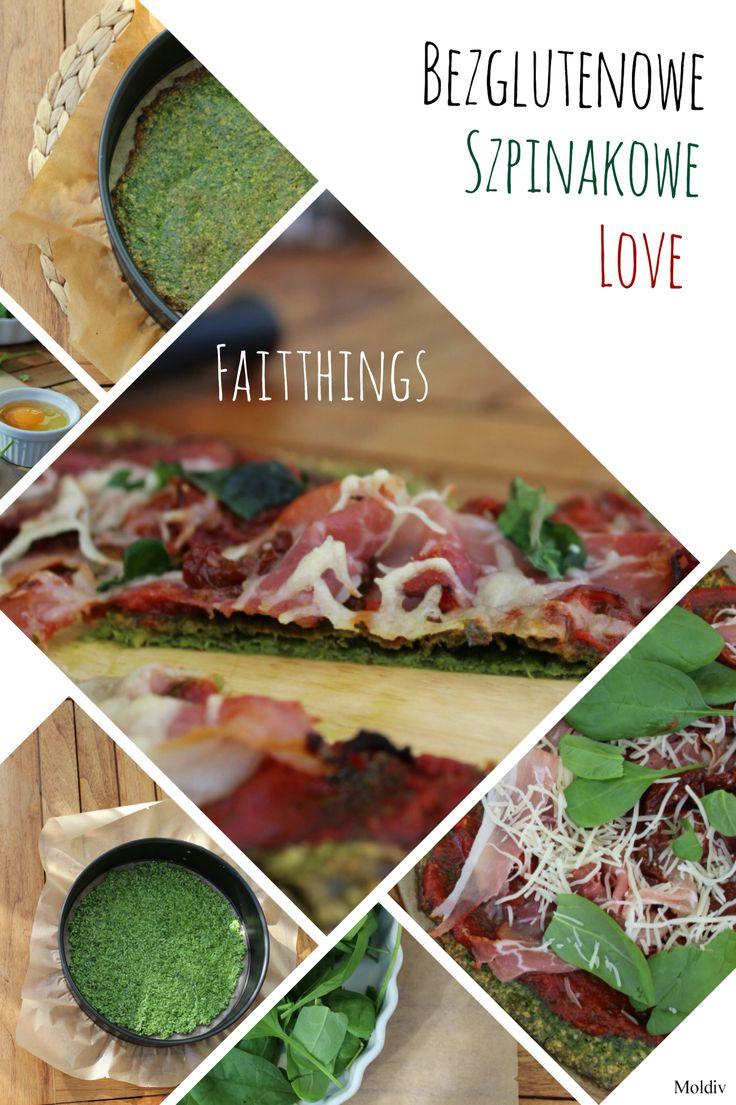 Spinach pizza, glutenfree- faitthings.blogspot.de