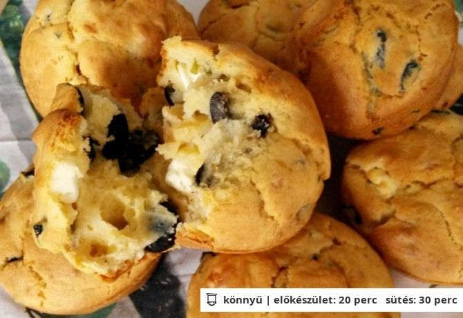 Mediterrán fűszeres muffin
