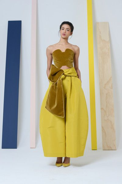 I'd totally dig a remake of this look as a gown, instead of pants/top. Rosie Assoulin Fall 2014