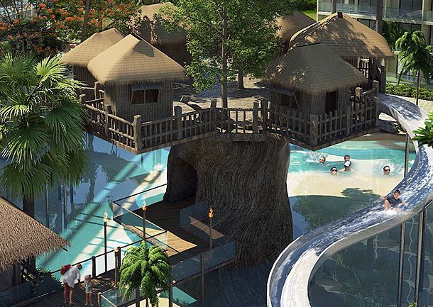 Tree Houses For Adults 1Bedroom Condo The Maldives Waterpark