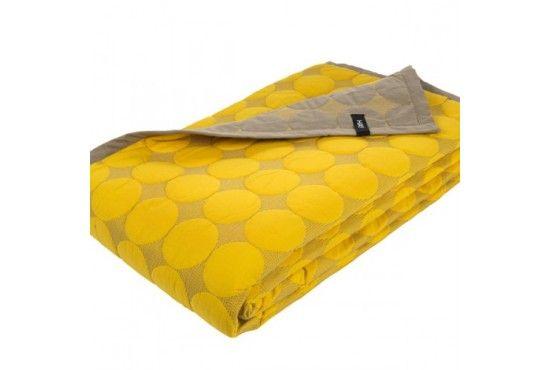 Hay Mega dot sengetæppe - gul