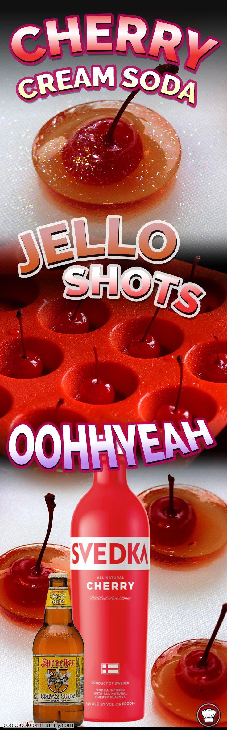 CHERRY VODKA CREAM JELLO SHOTS - Such a lovely creamy cherry flavor!