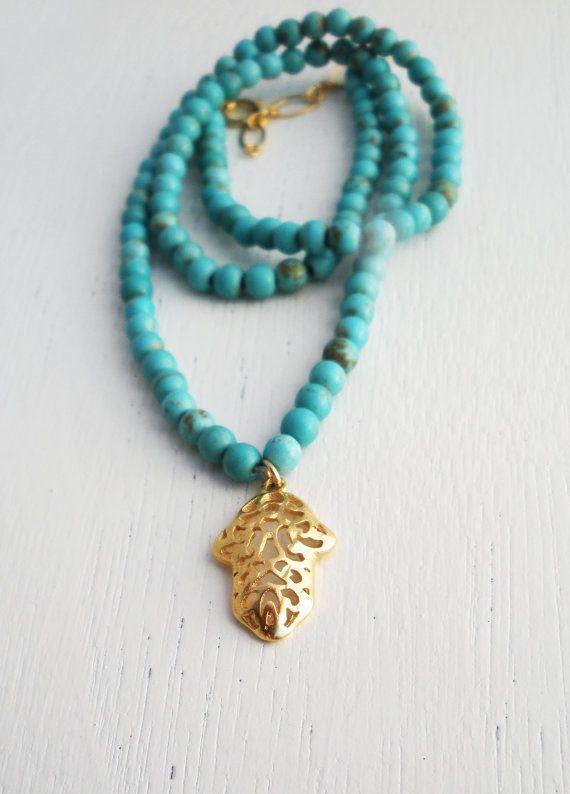 turquoise :-): Turquoise Necklaces, Gold Filigree, Turquoi Jewelry, Hamsa Necklaces, Titil Turquoi, Style Pinboard, Turquoi Hamsaaa, Hamsa Hands, Turquoise Jewelry