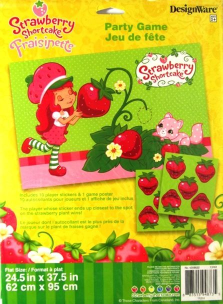 Stick / Pin Fruit Strawberry Shortcake Party Game 2 - 10 Players