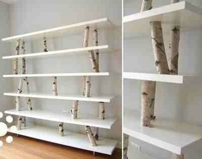 Birch wood diy shelf #diy