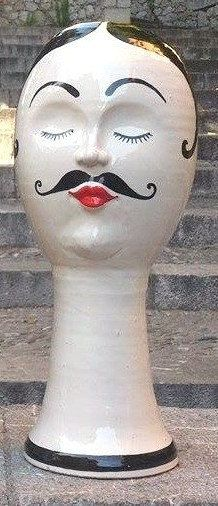 Italian Ceramic Man Hat stand by ItalianBespokeArt on Etsy