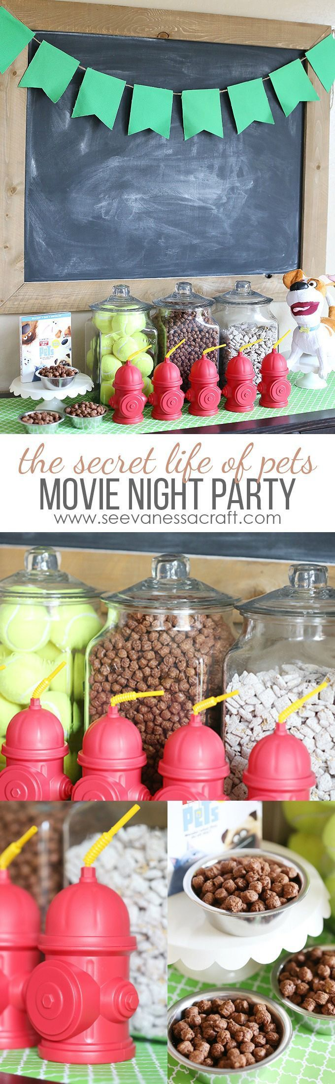 Homemade Puppy Chow Recipe and The Secret Life of Pets Movie Night Party @secretlifeofpets #ad #TheSecretLifeOfPets #PetsPack