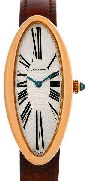 Cartier Baignoire Alongee Mecanique 18K Rose Gold Womens Watch
