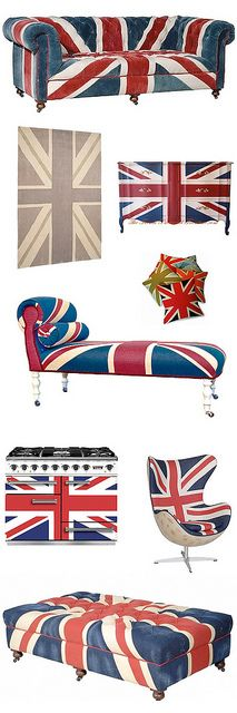 It's so British...it could only be described as posh. This may even be too many Union Jacks for me.