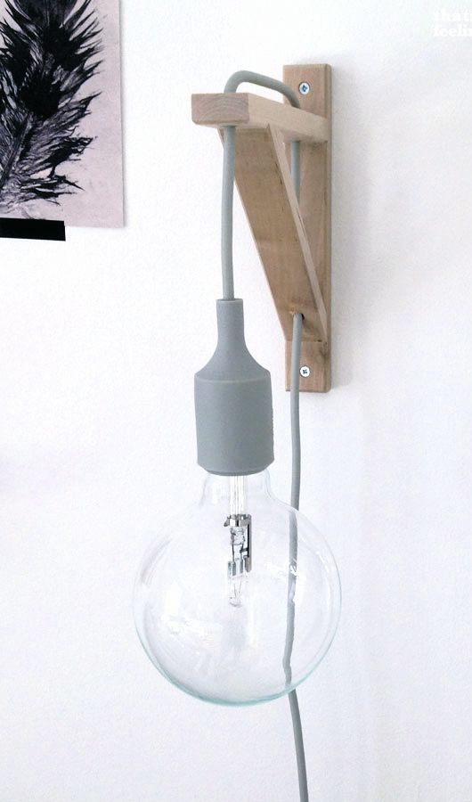 DIY muuto lamp holder with ikea bracket