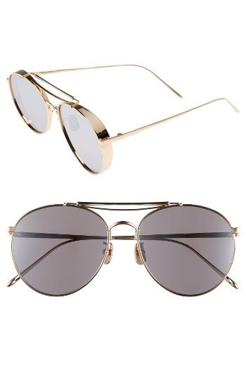 Free shipping and returns on Gentle Monster Big Bully 56mm Aviator Sunglasses at Nordstrom.com. Polished metal frames and mirrored teardrop lenses further the retro appeal of classic shades with weekend-ready style.