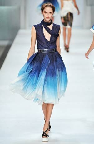 Such a beautiful ombre blue. A Phoebe Philo creation for Celine.