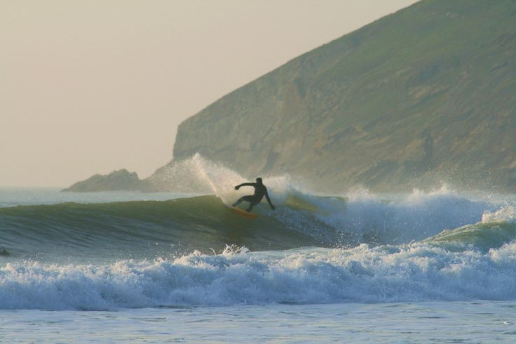 Surfing in Croyde Bay