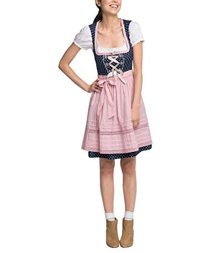 #ESPRIT #Collection #Damen #Kleid #076EO1E026, #Mehrfarbig #(Navy #400), #34…