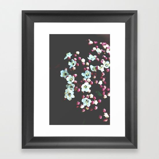 Viburnum Flowers Framed Art Print by ARTbyJWP from Society6 #homedecor #walldeco #artprints #framedart #floral --  Choose from a variety of frame styles, colors and sizes to complement your favorite Society6 gallery, or fine art print - made ready to hang. Fine-crafted from solid woods, premium shatterproof acrylic protects the face of the art print, while an acid free dust cover on the back provides a custom finish. All framed art prints include wall hanging hardware.