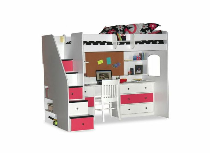 Utica Twin Dorm Loft Bed With Desk And Storage Ideas For