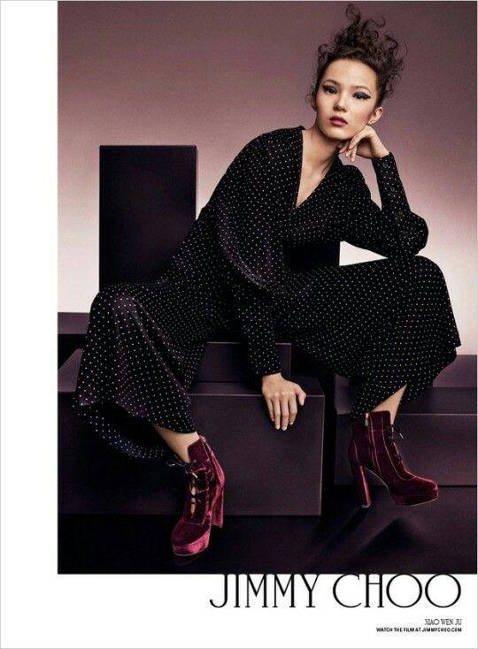 Xiao Wen Ju - Jimmy Choo F/W 2016 photos Craig McDean stylist Sarah Richardson