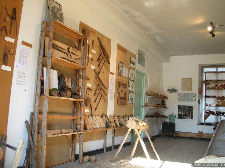 The Clog Museum in Porcheresse (Daverdisse) - Land of Bouillon in the Ardennes, South Belgium.