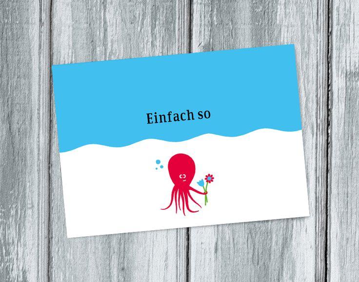 """Maritime Postkarte der Serie """"Küstenpost"""". Macht Lust auf Meer."""