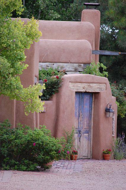 218 best adobe style homes images on pinterest for Santa fe adobe homes