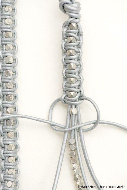 Стильные браслеты макраме: кожаные плетеные браслеты
