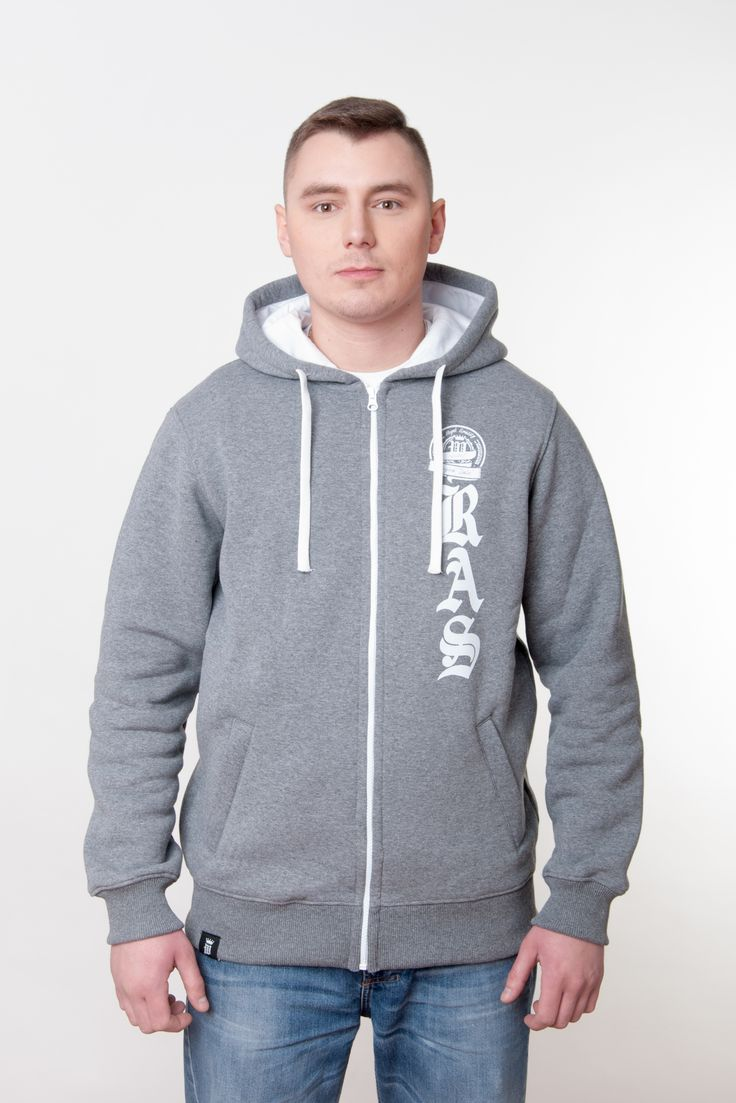 Grey Mens Hoodie by Royal Arts Style