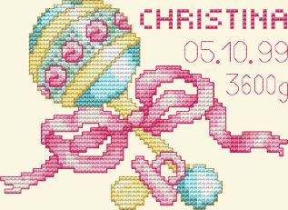 "Free Cross Stitch Pattern ""Baby Girl"""