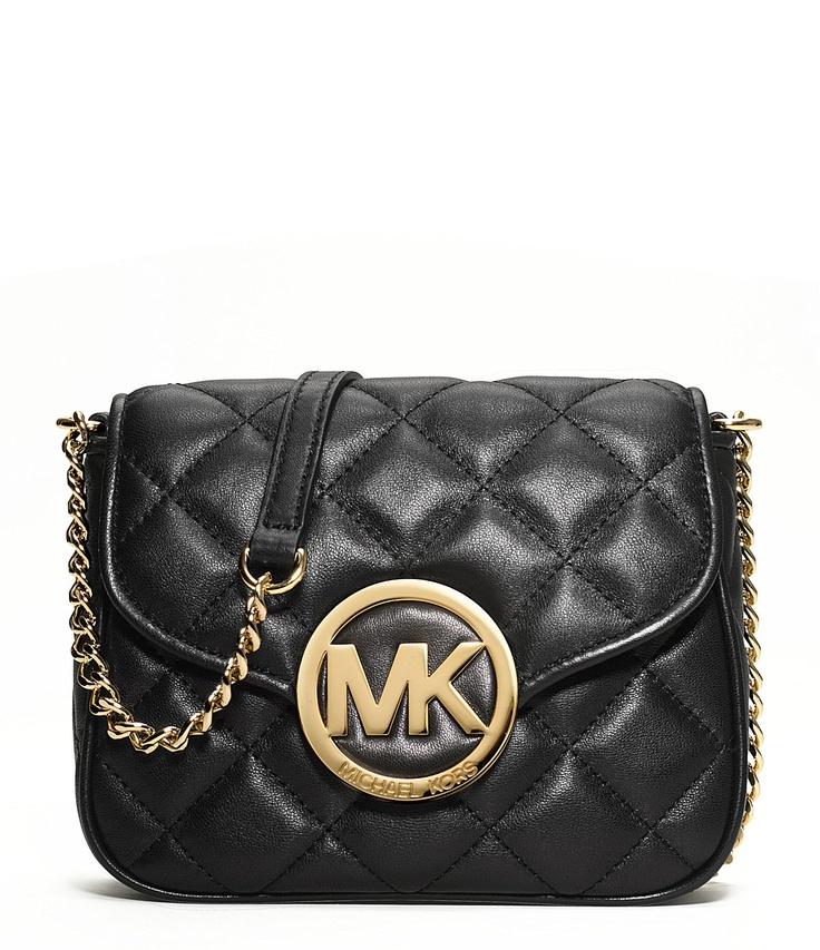 MICHAEL Michael Kors Quilted Fulton Cross-Body Bag in Black -$158