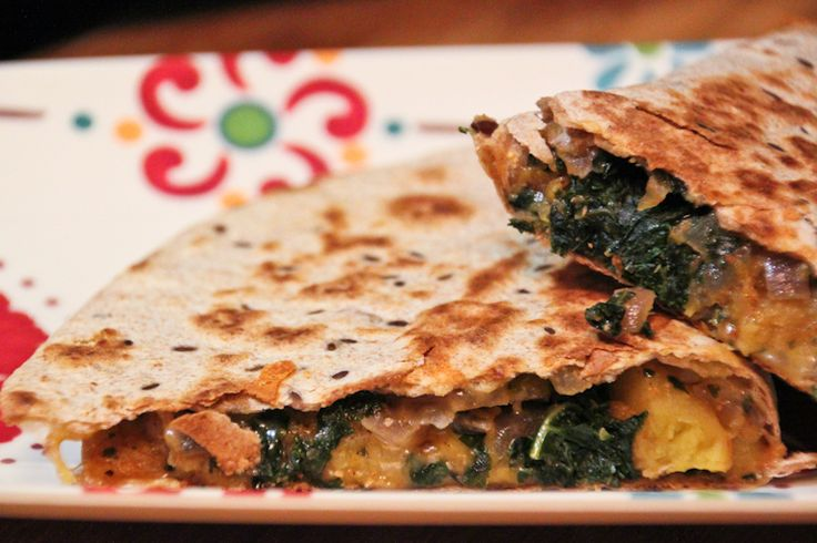 These butternut squash and kale quesadillas are totally guilt-free and ...