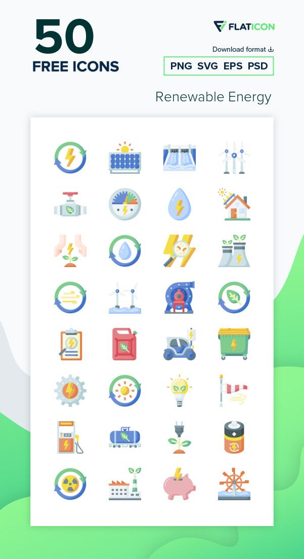 50 Free Vector Icons Of Renewable Energy Designed By Freepik Free Icon Packs Vector Free Free Icons Png
