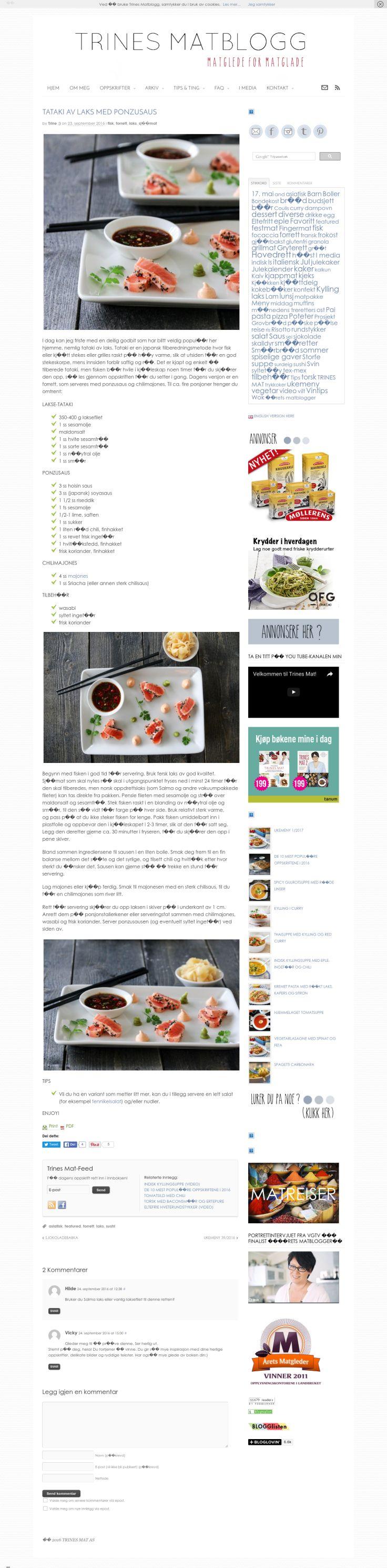 Website'http%3A%2F%2Ftrinesmatblogg.no%2F2016%2F09%2F23%2Ftataki-av-laks-med-ponzusaus%2F' snapped on Page2images!