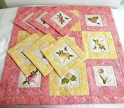 Úžitkový textil - Kvetinová záhrada 2 - 5569185_