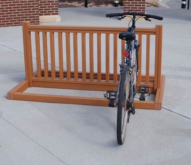 Bike Parking Racks | Outdoor Bike Racks |. Use old crib rail?