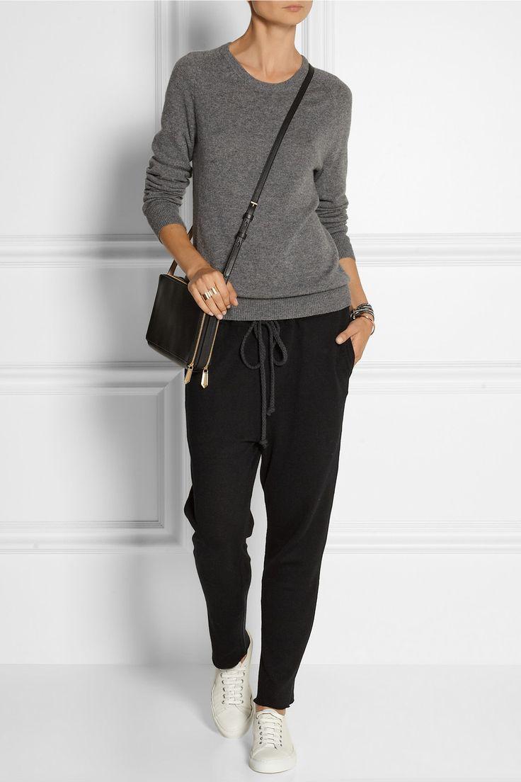 The Elder Statesman   Cashmere and linen-blend track pants   NET-A-PORTER.COM